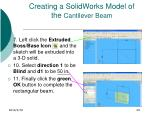 creating a solidworks model of the cantilever beam29