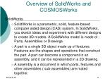 overview of solidworks and cosmosworks