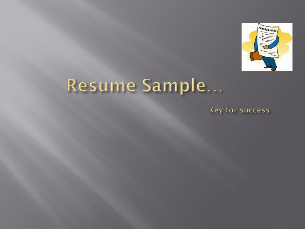 resume sample key for success l.