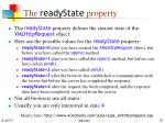 the readystate property
