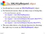 the xmlhttprequest object
