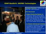 idhp booth 1 wipro technologies