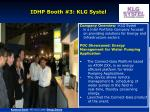 idhp booth 3 klg systel
