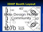 idhp booth layout