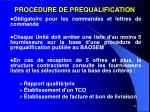 procedure de prequalification