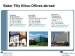 baker tilly klitou offices abroad