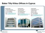 baker tilly klitou offices in cyprus