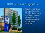 cdc helps in diagnosis