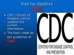 visit for updates cdc