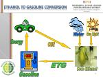 ethanol to gasoline conversion