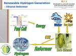renewable hydrogen generation ethanol reformer
