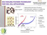 self healing polymer technology for fuel cell applications