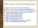 main sources of crime data publications