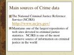 main sources of crime data
