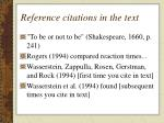 reference citations in the text