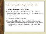 reference list in reference section17