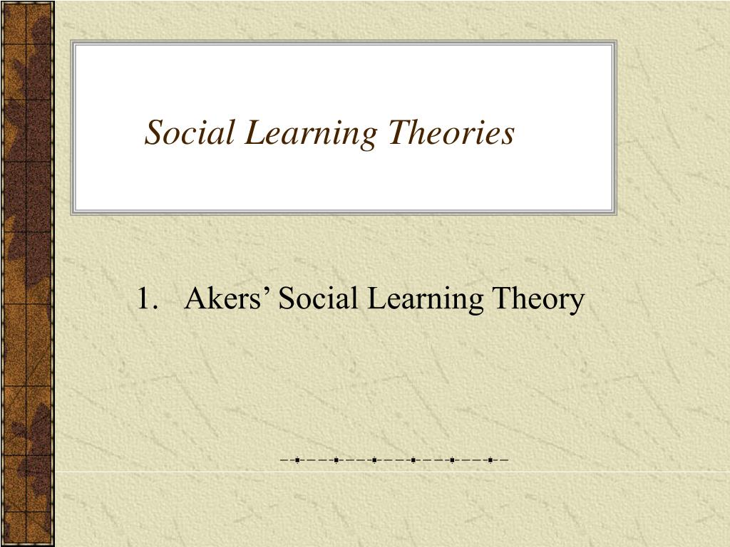 social learning theories l.