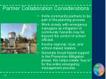 partner collaboration considerations