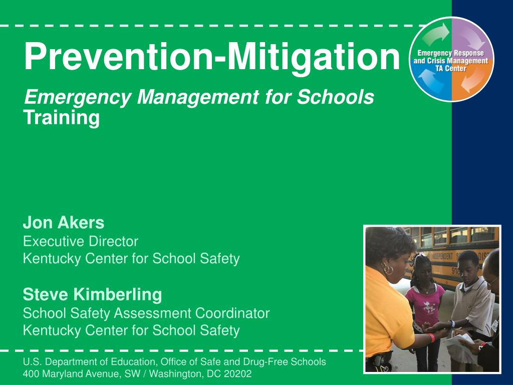 prevention mitigation emergency management for schools training l.