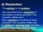 d resolution