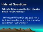 hatchet questions