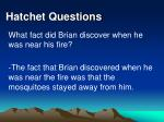 hatchet questions27