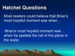 hatchet questions28