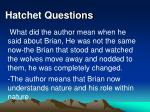 hatchet questions33