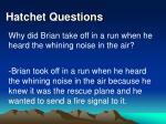 hatchet questions35