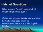 hatchet questions36