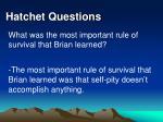 hatchet questions37