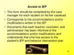 access to iep