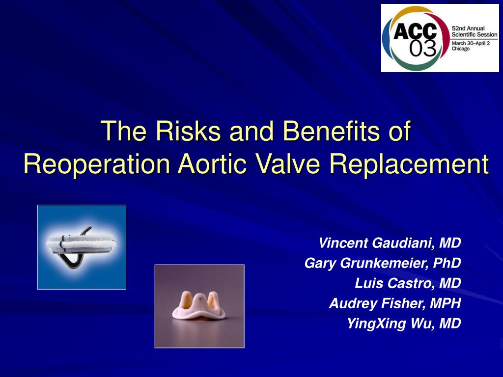 the risks and benefits of reoperation aortic valve replacement l.