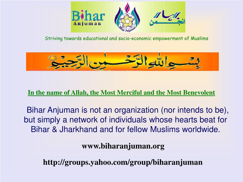 striving towards educational and socio economic empowerment of muslims l.