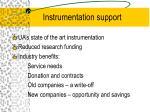 instrumentation support