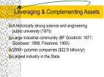 leveraging complementing assets