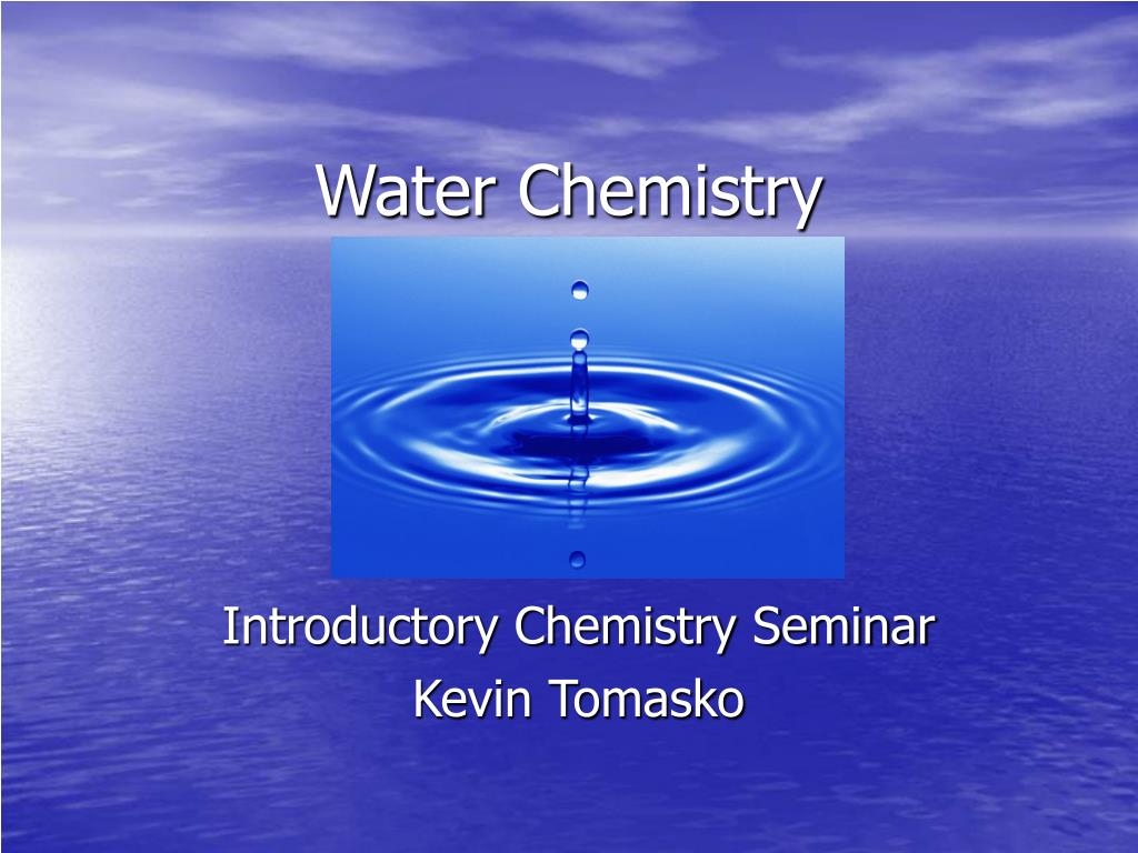 water chemistry l.