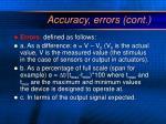 accuracy errors cont