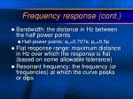 frequency response cont1