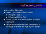half power points