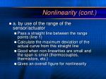 nonlinearity cont