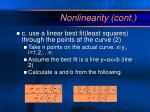 nonlinearity cont3
