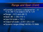 range and span cont