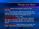 range and span