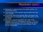 resolution cont