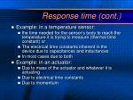 response time cont