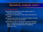 sensitivity analysis cont1