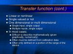 transfer function cont