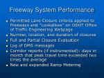 freeway system performance