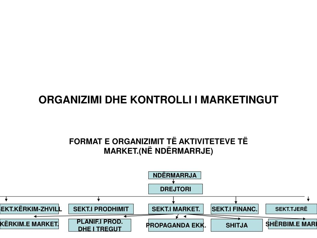 organizimi dhe kontrolli i marketingut l.
